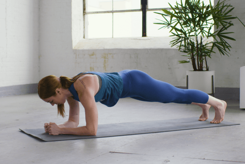 This 6-minute, no-equipment at-home upper body workout will light your arms, abs, and shoulders on fire