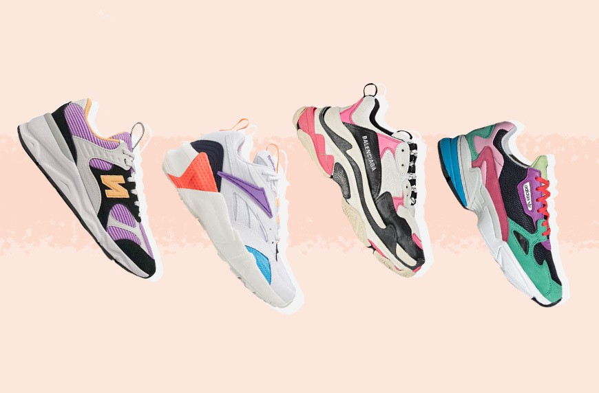 Thumbnail for Ready to Dip Your Toes in the Neon Trend? Try These 7 Color Block Sneakers on for Size