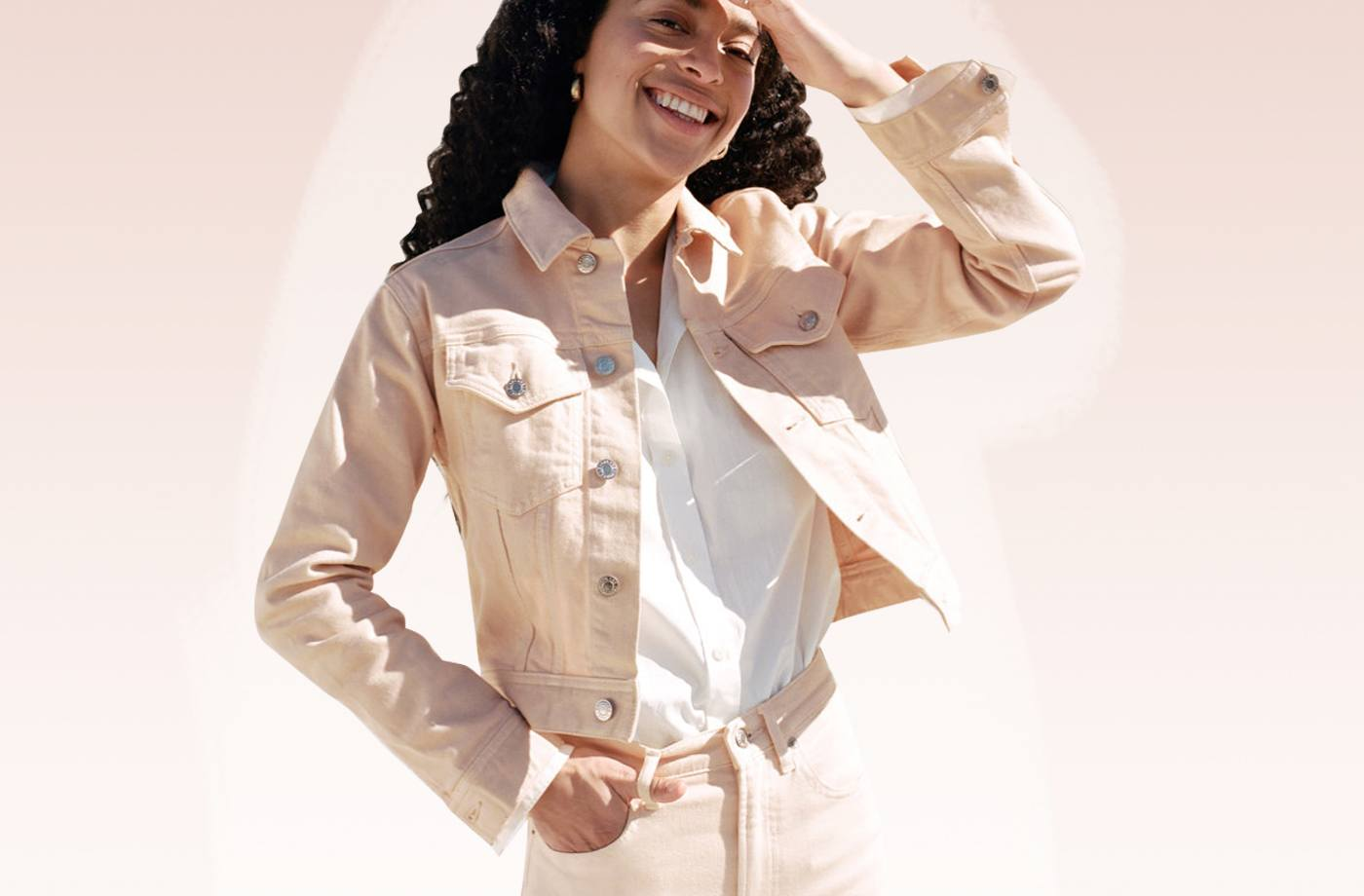 Thumbnail for This (on Sale!) Everlane Jacket Will Make You Feel Like a Modern Pink Lady