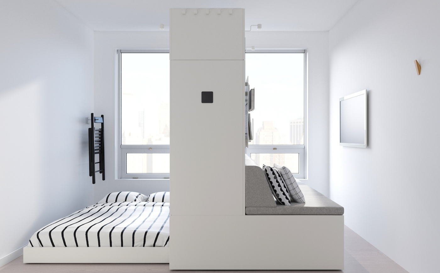 Thumbnail for Ikea's robotic 'furniture of the future' transforms 1 room into 3 for the ultimate minimalist aesthetic