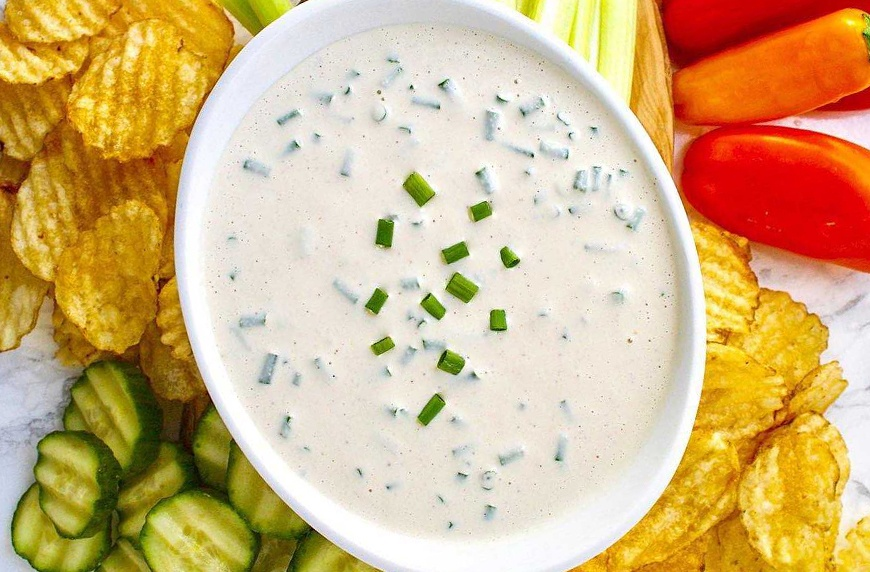 Everything that touches this healthy French onion dip becomes the perfect snack