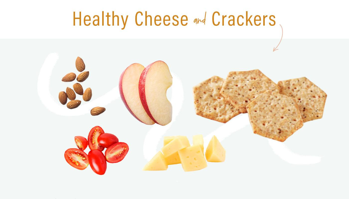 healthy lunchables idea cheese and crackers infographic