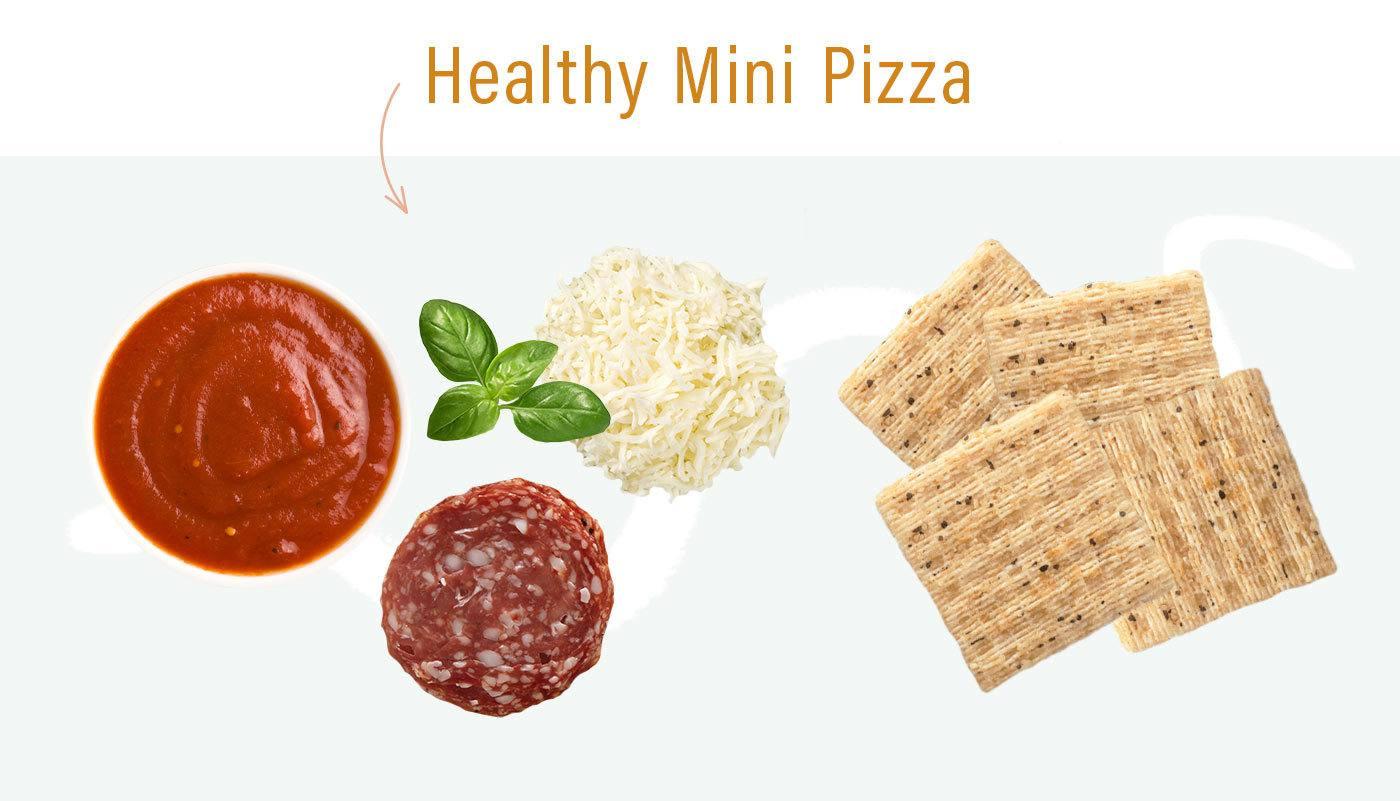 healthy lunchables idea mini pizza