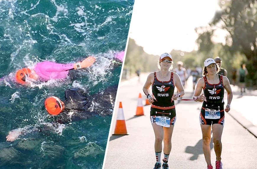 A blind endurance athlete and her guide prove crushing races is better together