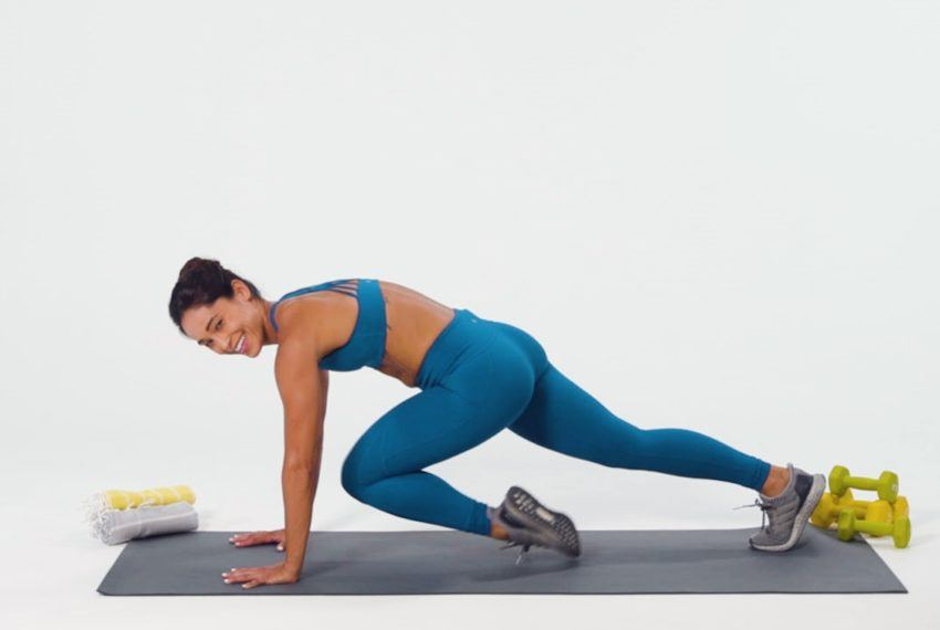 To nail mountain climbers, repeat after me: planks but make 'em cardio