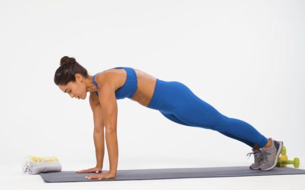 Memorize the 'four pack' to make your burpees over-the-top effective