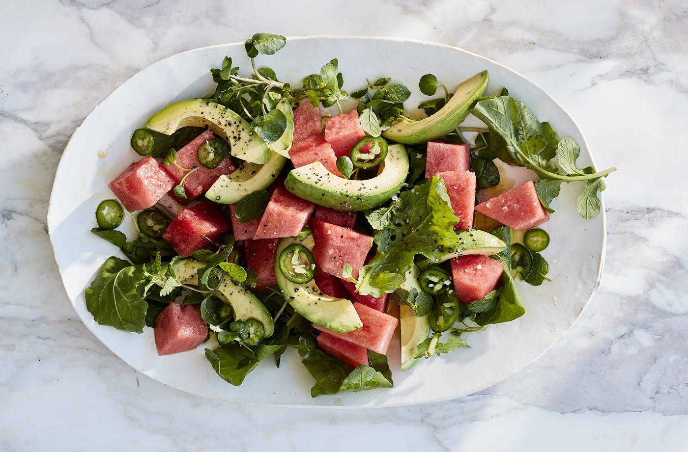 Thumbnail for Beat the heat wave by giving your greens a hydrating twist with this watermelon salad