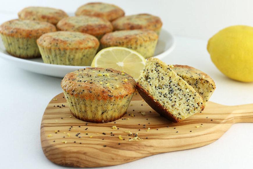 lemon poppyseed keto muffins