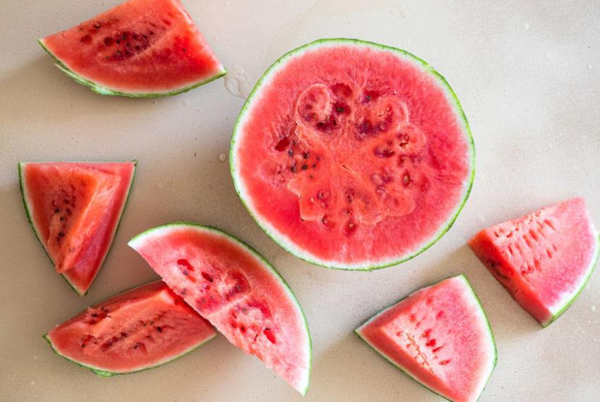Need Ice That Won't Melt in the Heat? Freeze Watermelon Cubes