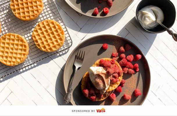 Get out the door faster with this 5-minute berry yogurt waffle recipe
