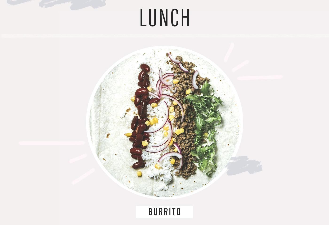 slt instructor amy paulin's lunch healthy burrito