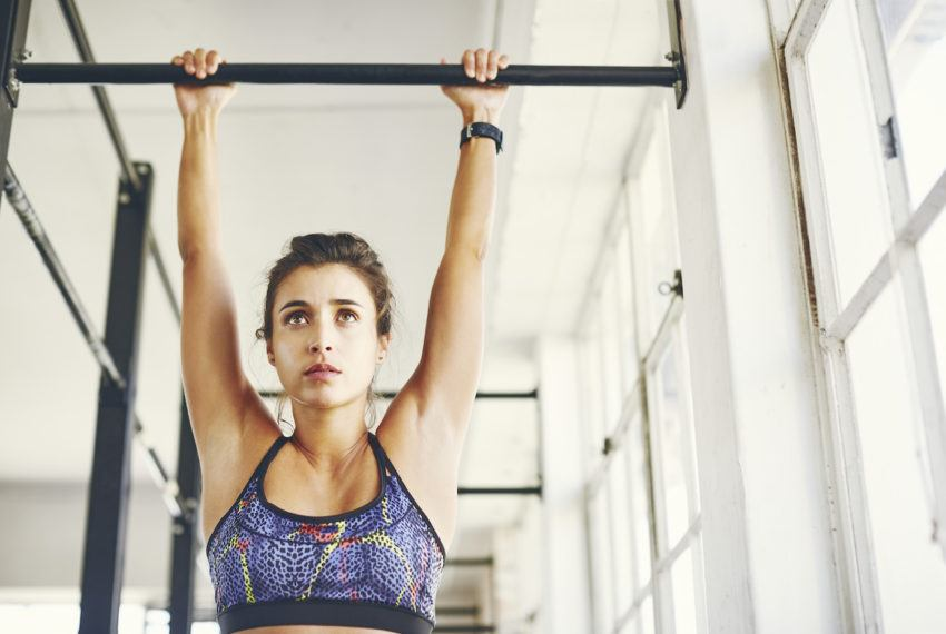 Can't kip (yet)? Here's how to get strong enough to touch your toes to the pull-up bar