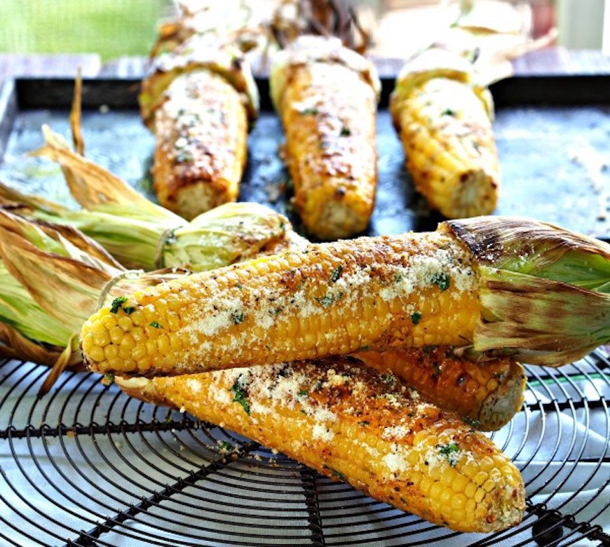 grilled corn with mexican mayo