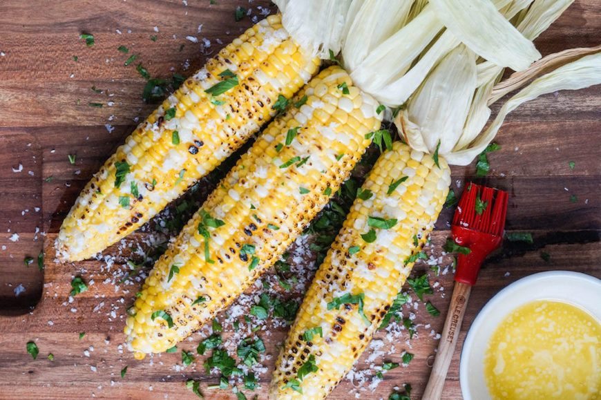 grilled corn with Parmesan garlic