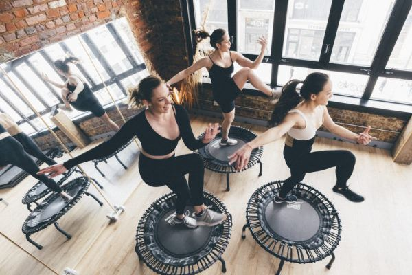 These lymphatic drainage workouts are basically a detox on a mat…or trampoline
