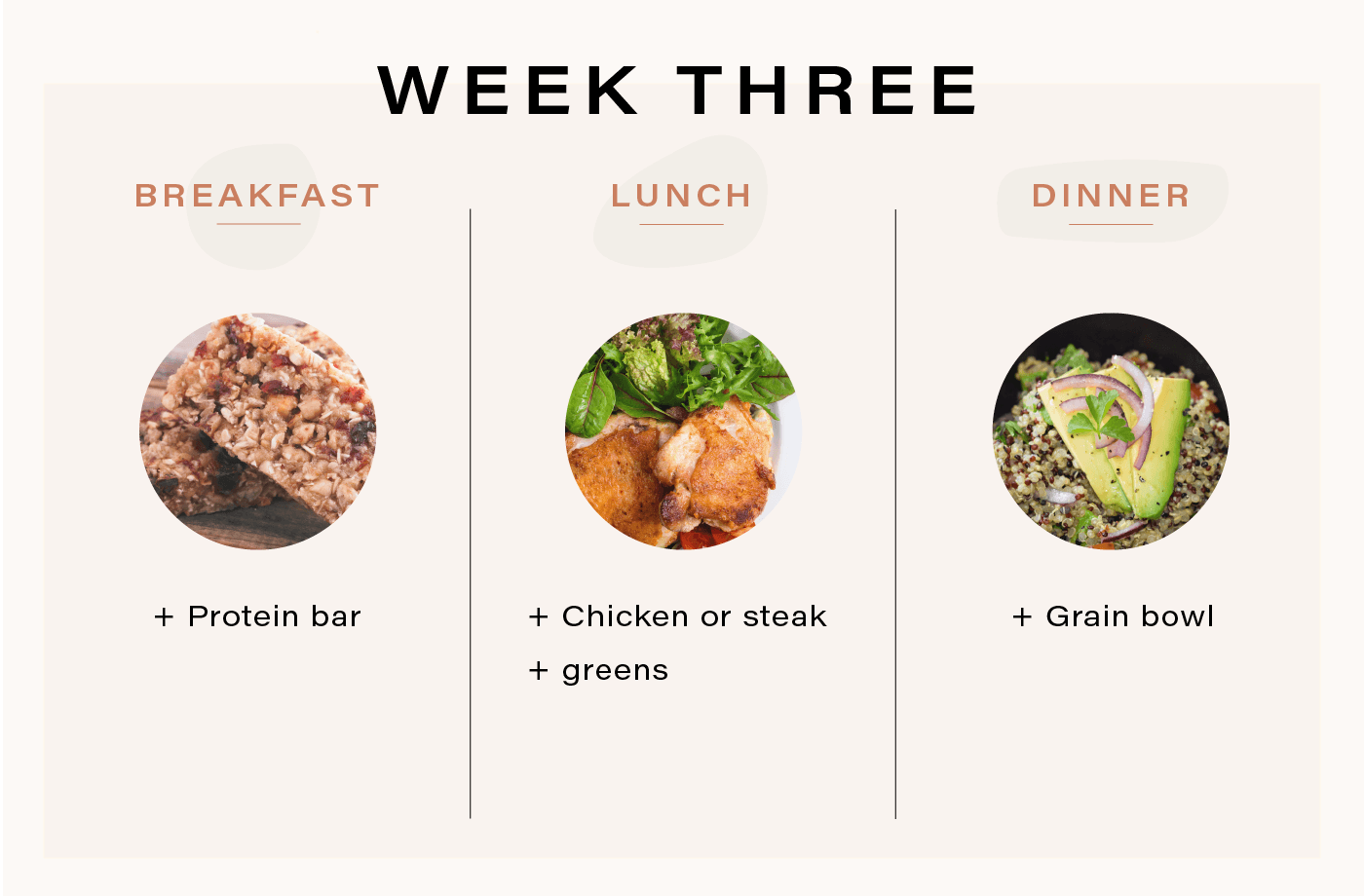 meal plan for runners week three