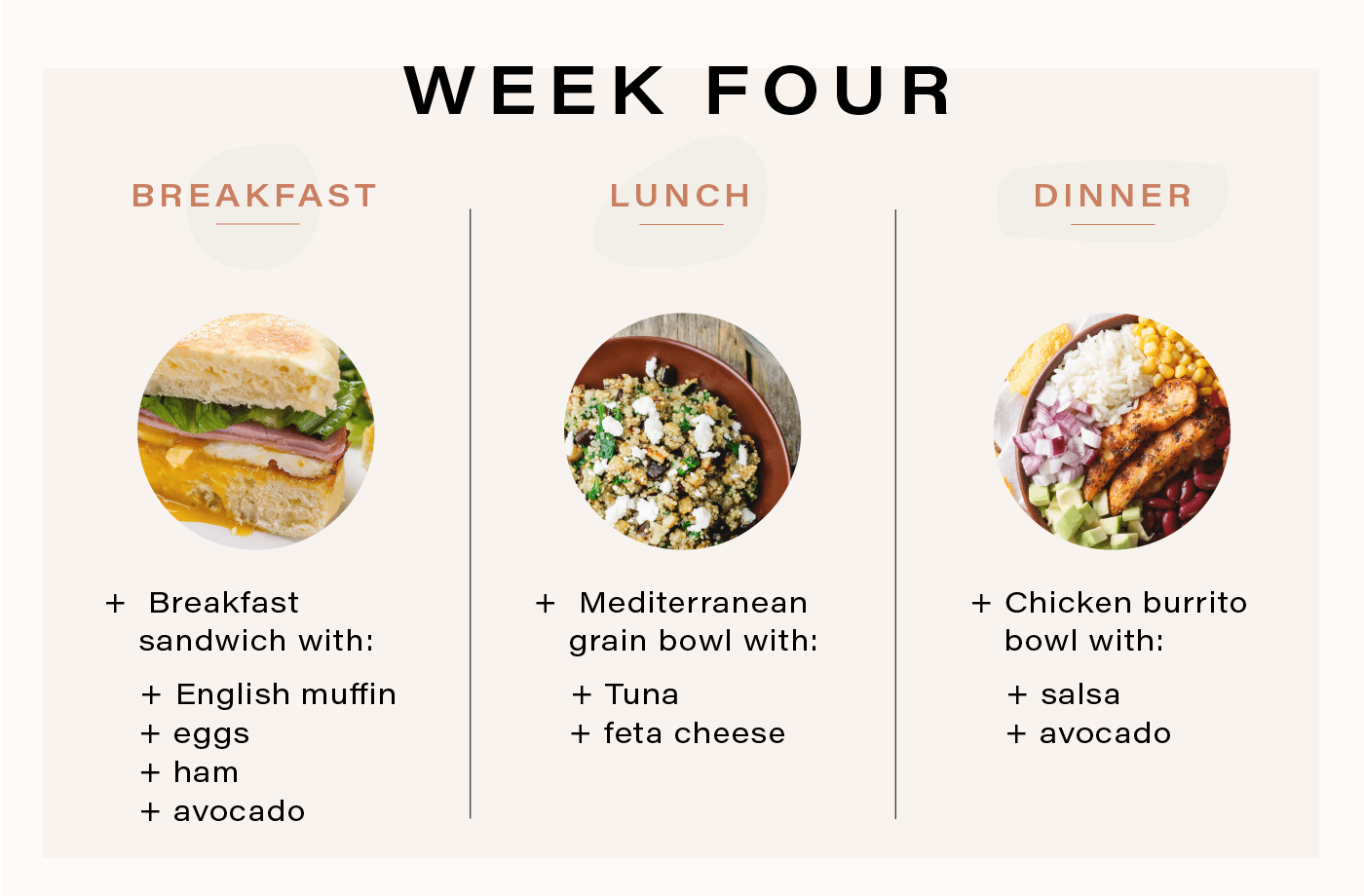 meal plan for runners week 4 meals