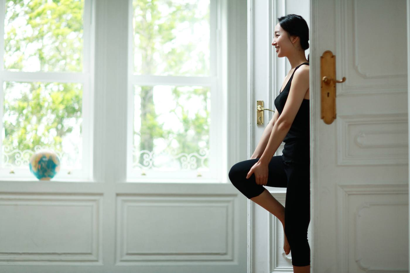These head-to-toe doorway stretches are the next best thing to a full-body massage