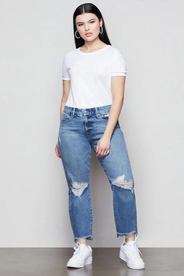 Good American Girlfriend jeans