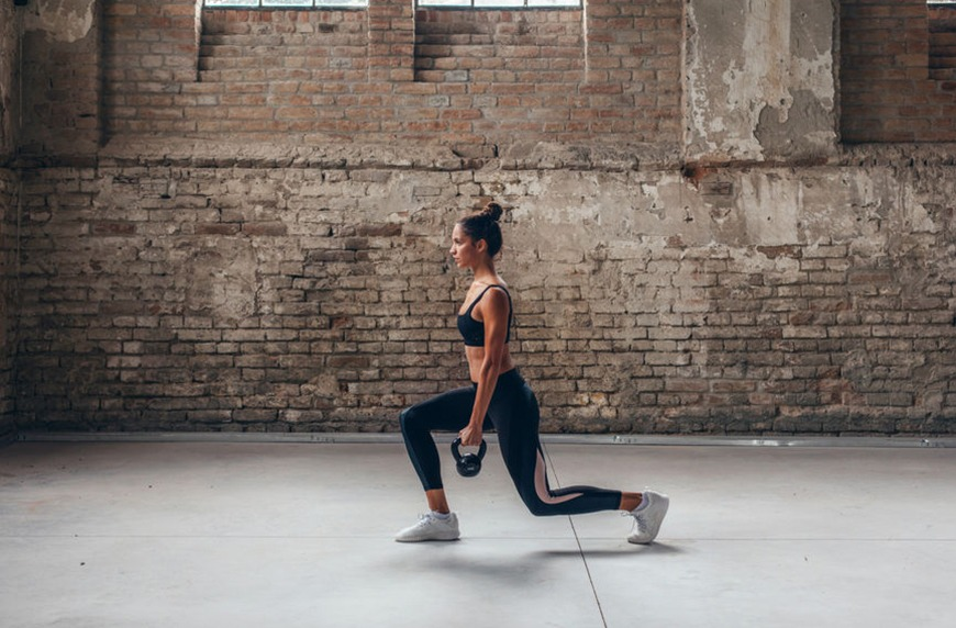 Boost your balance *and* lower body strength with the pendulum lunge