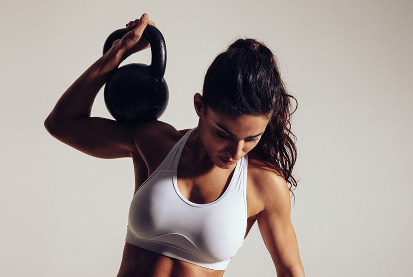 Boost your coordination and full-body strength with kettlebell cleans