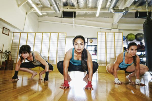 Frog hops open your hip flexors and massage your spine at the same time