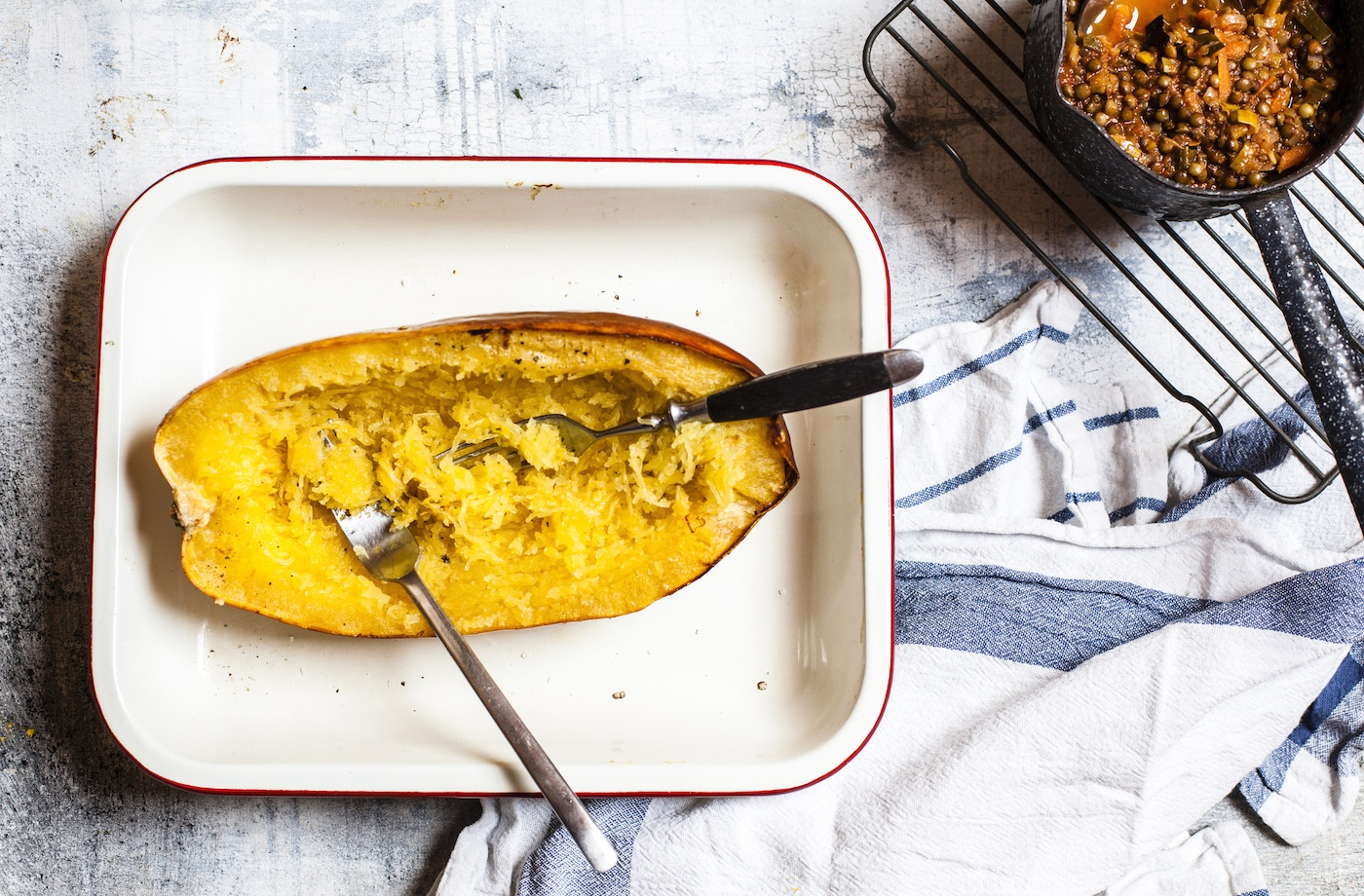 Thumbnail for Spaghetti Squash Is the High-Fiber, Nutrient-Rich Pasta Alternative We Deserve
