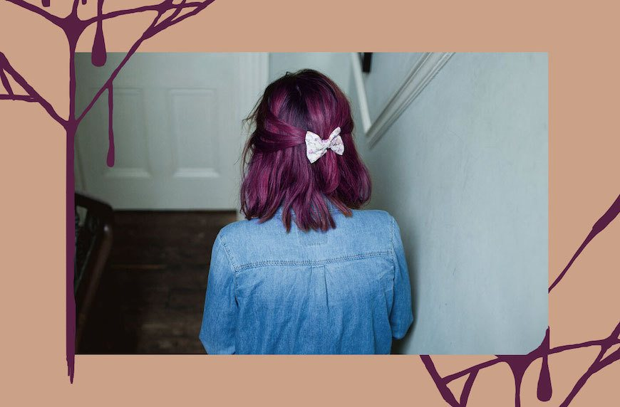 Thumbnail for Beauty Horror Story: I dyed my blonde hair plum, and it never was the same