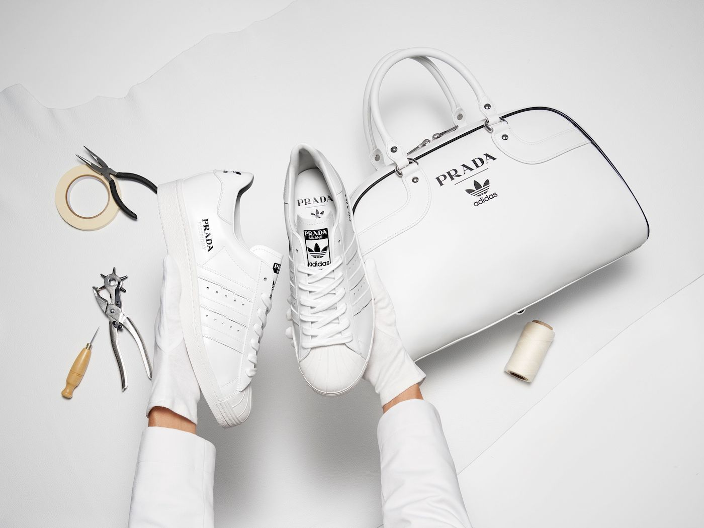 Thumbnail for Adidas and Prada Have Teamed up to Create the Chicest Dang Sneakers We've Ever Seen