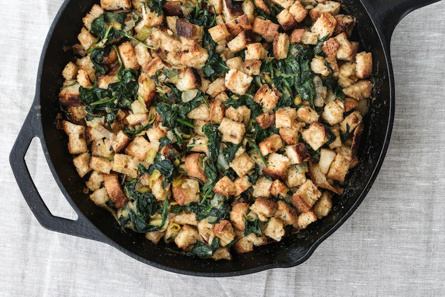 spinach and leeks stuffing recipe