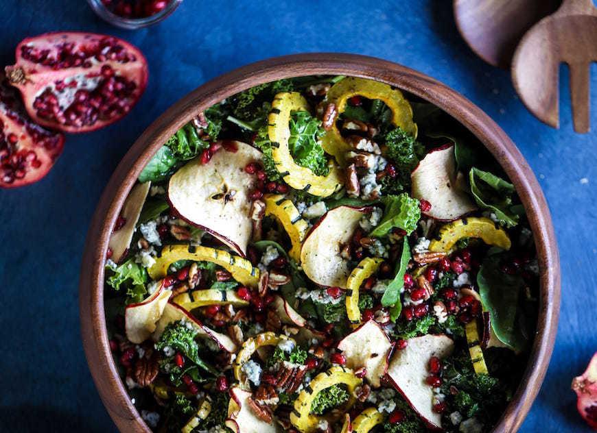 squash and apple thanksgiving salad