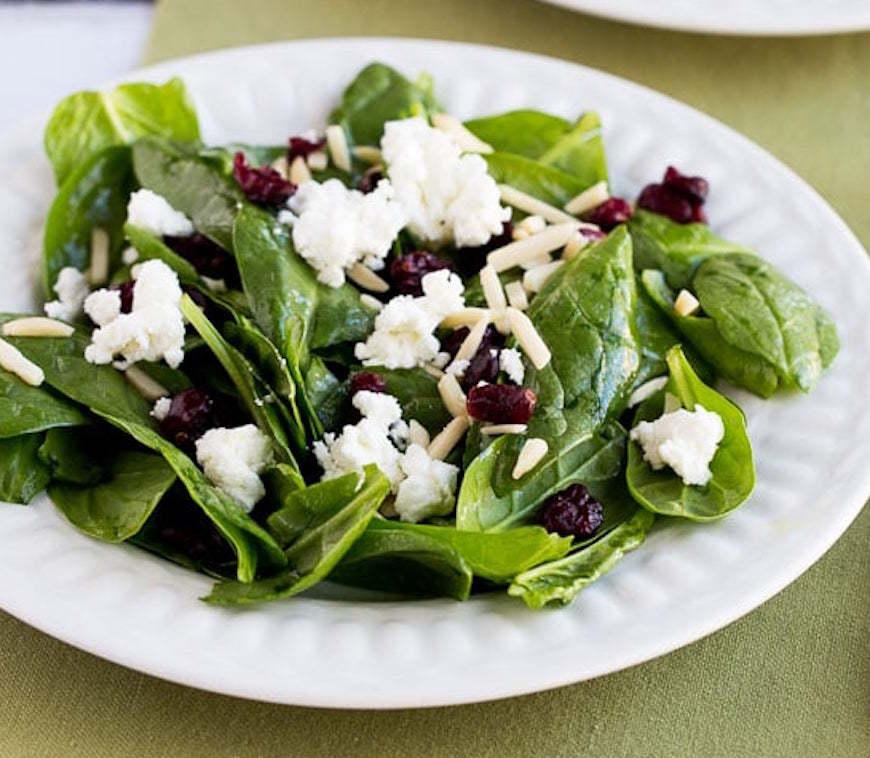thanksgiving spinach salad