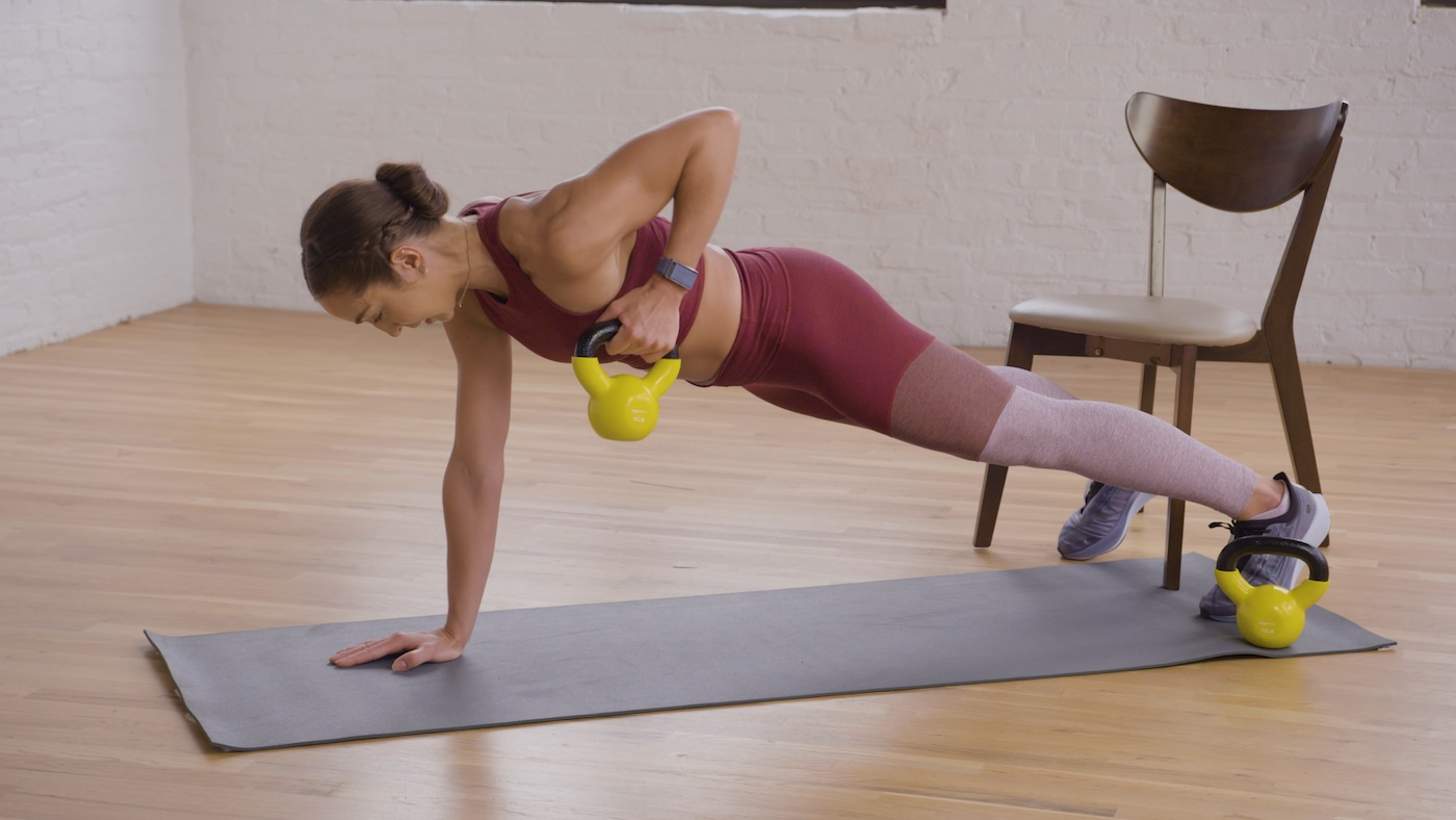 All You Need for a Stronger Back and Core Is a Kettlebell and a Chair
