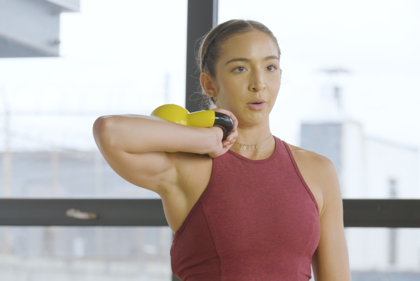 A trainer shows us how to tell if your kettlebell is too heavy for your...