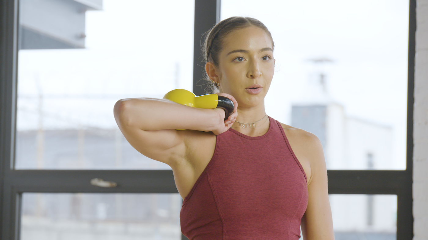 A trainer shows us how to tell if your kettlebell is too heavy for your workout