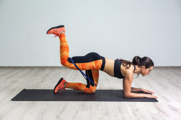 A butt-sculpting resistance band workout that also lights up your core? Yes, please