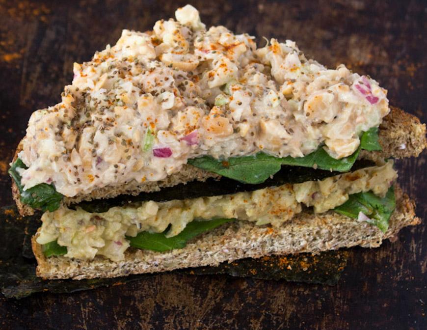 vegan tuna sandwich