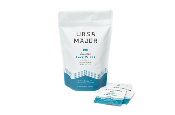 Ursa Major Essential Face Wipes, shower at the gym