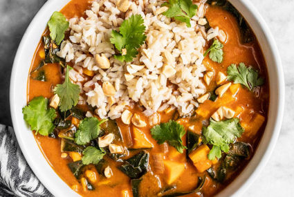 This healthy West African peanut stew costs just $1 per serving—and it's 100% vegan