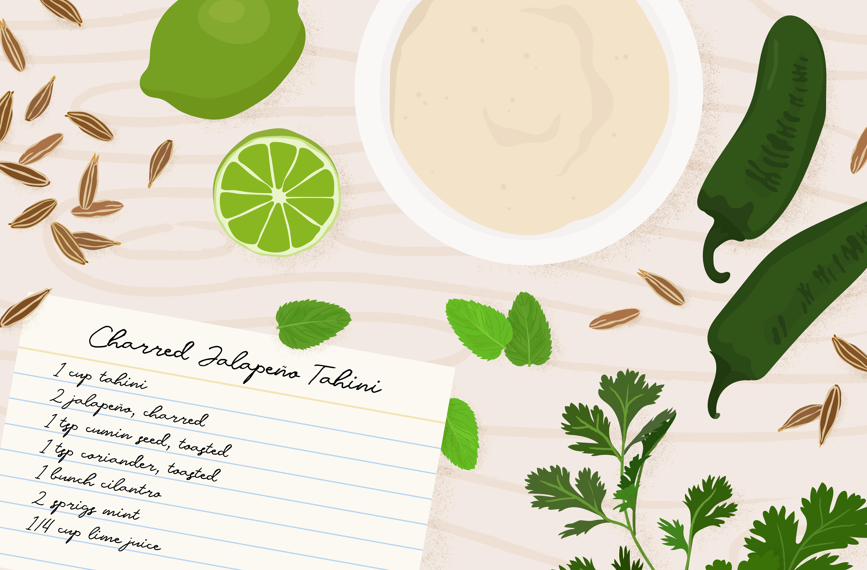 easy jalepeno tahini sauce recipe