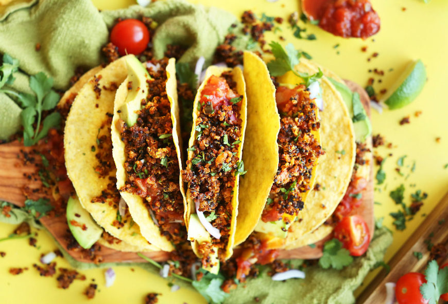 vegetarian plant based tacos