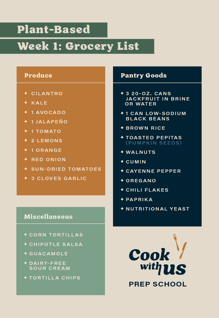 healthy mexican food shopping list