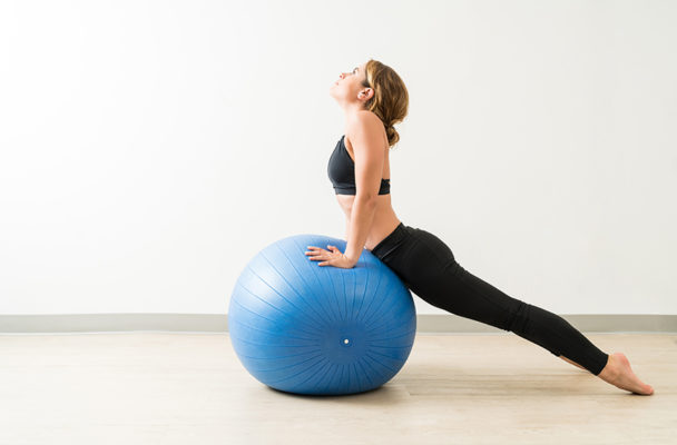 Your secret weapon for back strength is a stability ball—here's exactly how to wield it