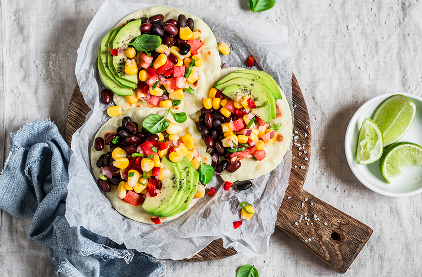 I simply can't eat enough of these plant-based black bean ceviche tostadas