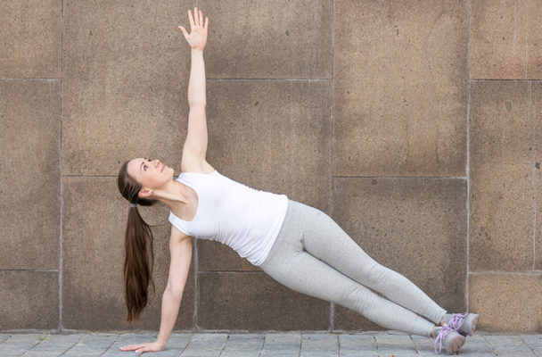 The 'side plank march' is a trainer's favorite to fire up your lateral chain