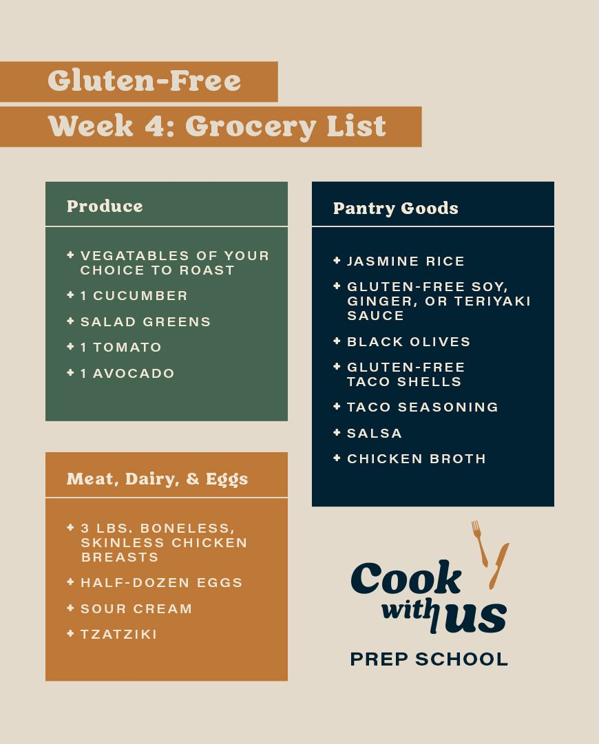 cooking with chicken grocery list