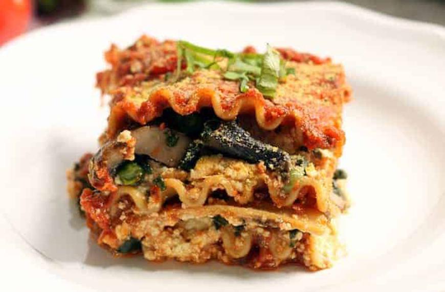 vegan freezer meal lasagna