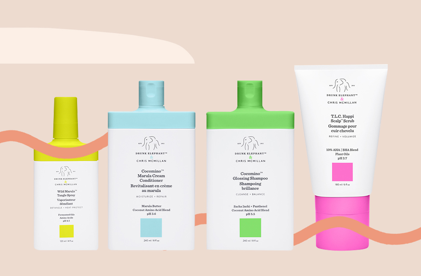 Thumbnail for Drunk Elephant Is Brightening up Your Shower With Hair Care That Puts the Scalp First