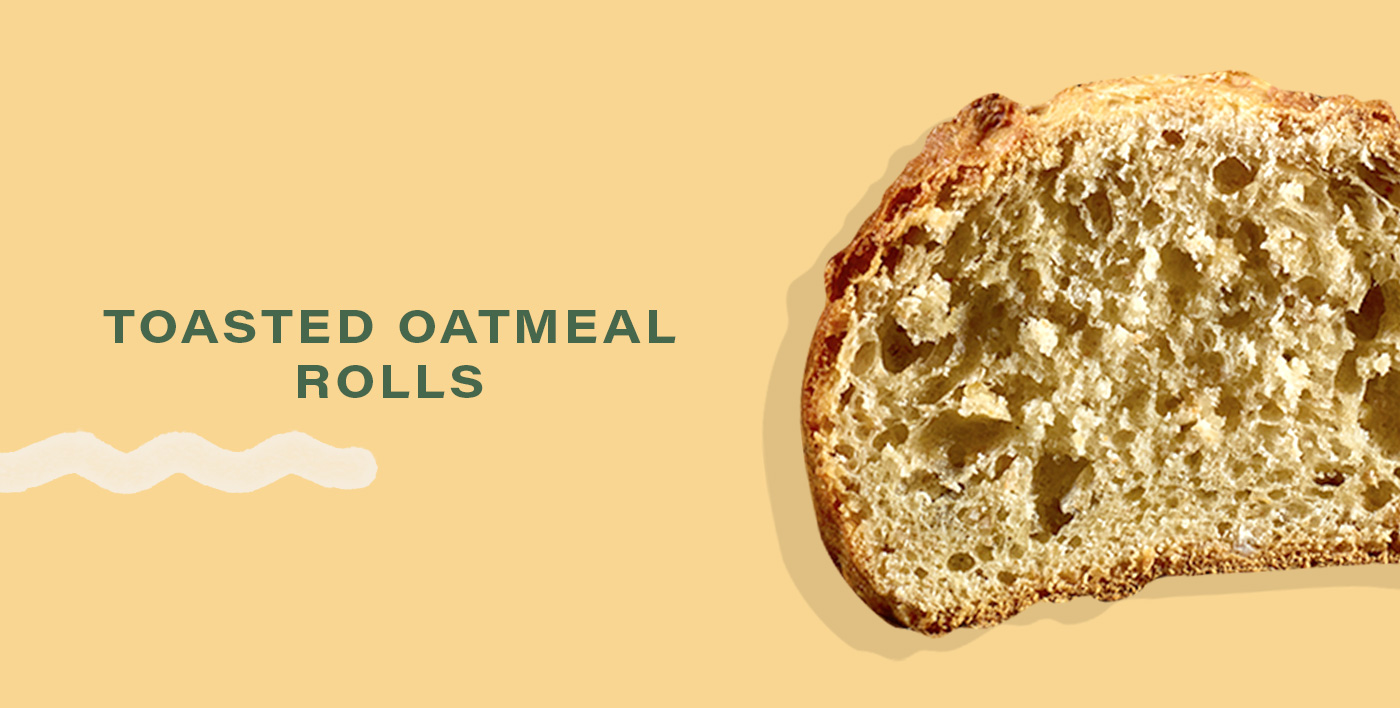 Toasted Oatmeal Rolls