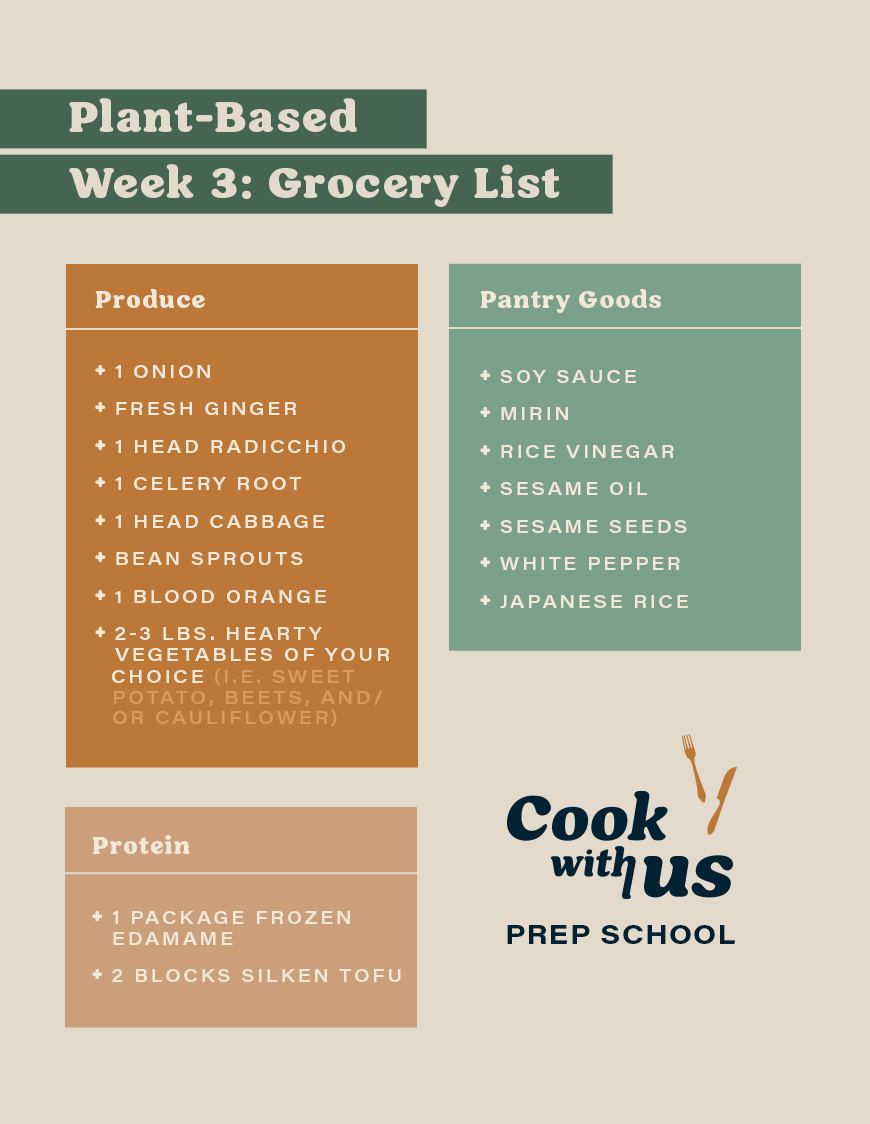 healthy asian recipes grocery list